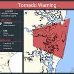 Image for the Tweet beginning: Tornado Warning continues for Camden