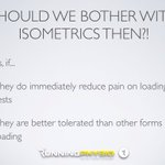 Image for the Tweet beginning: Do isometrics still have a
