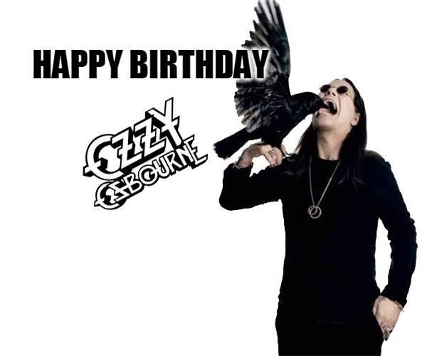 Happy Birthday - Ozzy Osbourne  Born: 3 December 1948