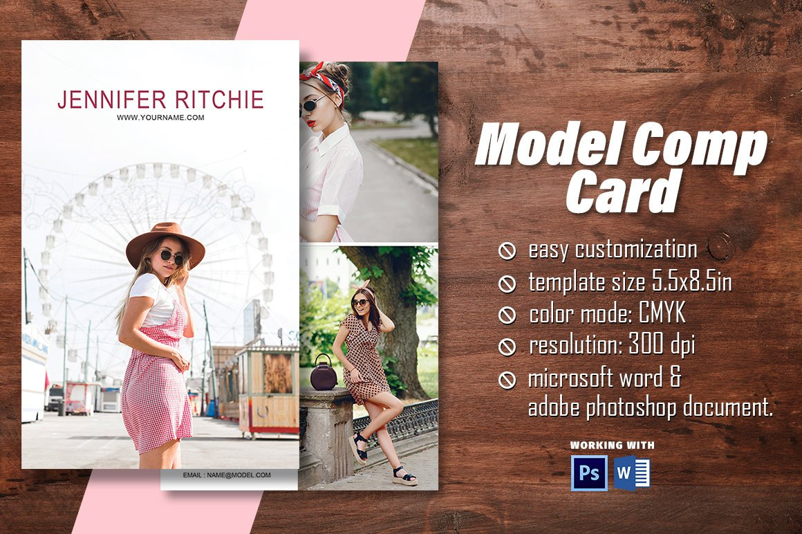 """Madhabi Studio on Twitter: """"Excited to share the latest addition For Download Comp Card Template"""