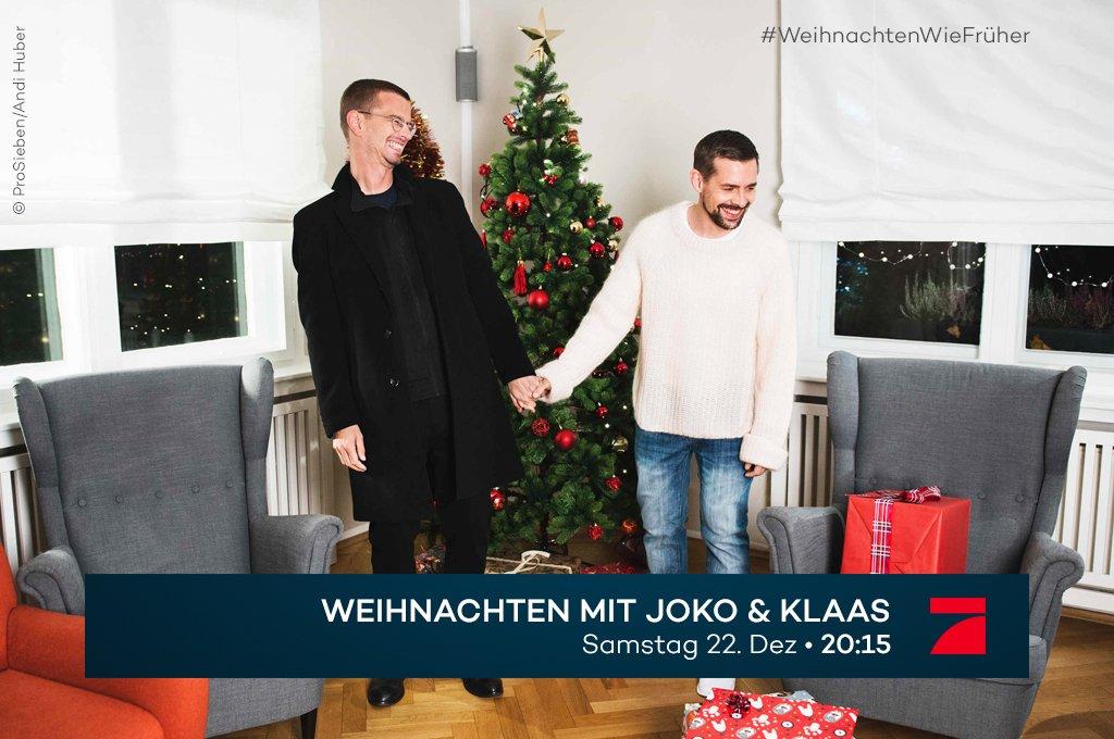 Das Beste vorm Feste. @tim_kocht, Herbert Grönemeyer, @MSchweighoefer, @siggismallz, @PalinaRojinski, @Lenas_view, Udo Walz und Olli Dittrich feiern 'Weihnachten mit Joko & Klaas'. Und Du bist eingeladen. Samstag. #WeihnachtenWieFrüher