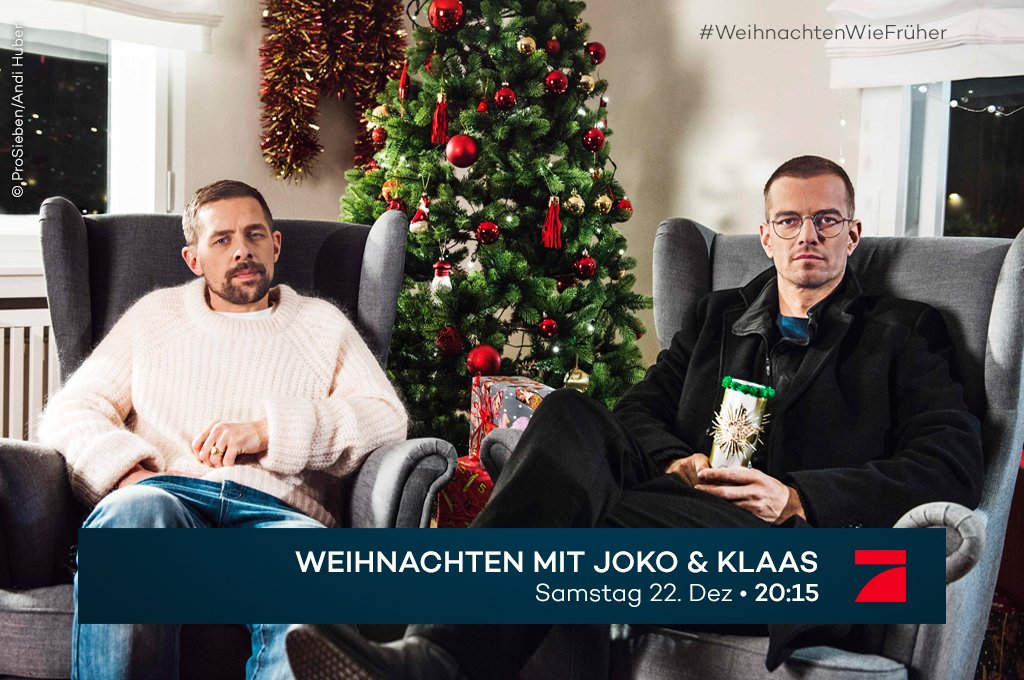 Obacht! Wir verlegen Weihnachten dieses Jahr vor. Auf den 22. Dezember. Dann feiern @officiallyjoko, @damitdasklaas und Gäste mit Dir #WeihnachtenWieFrüher.