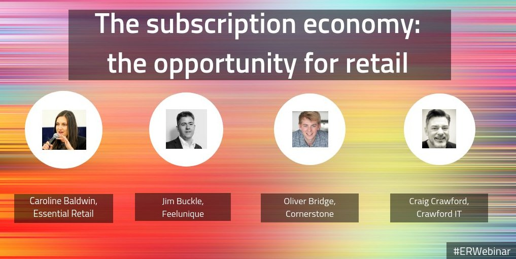 Super Excited to be part of this webinar tomorrow with @feelunique @Cornerstone_HQ and @cl_baldwin discussing the retail subscription economy. Thanks @HIT_Consulting @HCUKanalytics for your insights!