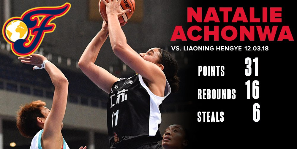 A 💪 performance for @NatAchon on both ends of the floor this morning as Jiangsu took down Liaoning Hengye 89-78. #FeverOverseas #WatchUsWork