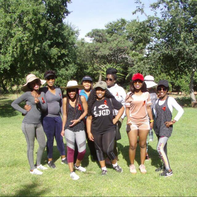 1st December 2018 We had our first ever women&quot;s retreat, we went mountain hiking.  We had our red ribbons on for World Aids day. Later at night we gathered around and spoke about Family, Finances, GBV, HIV/AIDS, Relationships and Suicide <br>http://pic.twitter.com/1A0RIxlfPQ