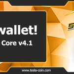 Image for the Tweet beginning: New wallet available! -->> TeslacoinCore