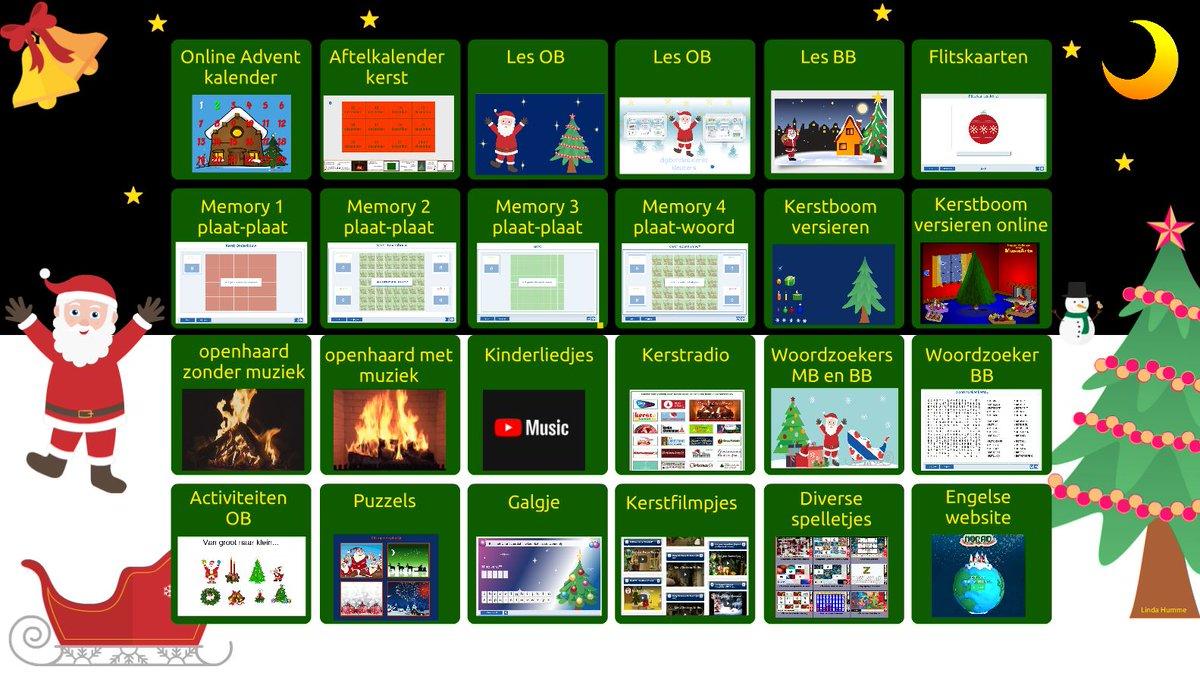 Startpagina Kerstmis gemaakt, handig voor komende weken #kerstmis #kerst #digibord #woordzoekers #memory #lessen #Prowise #Presenter #spelletjes presenter.prowise.com/share_EaNYGdn2…
