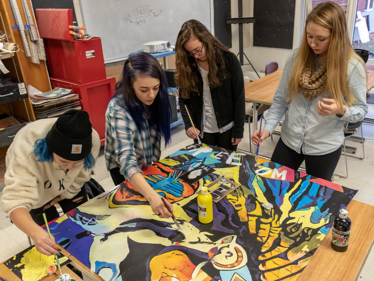 The Woodstock Academy On Twitter The Art Remix And Spanish 6 Classes Collaborated To Create A Large Piece Of Artwork Highlighting Indigenous Cultures Of Central And South America Take A Look And