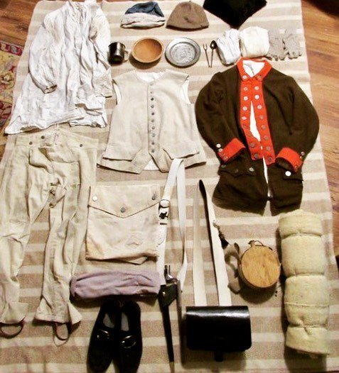 The average kit for a Massachusetts continental soldier in the later part of the war from 1779-1781 #reenactment #revolutionarywar #massachusetts #patriots #soldier #kit https://t.co/w7VZOp8uvr