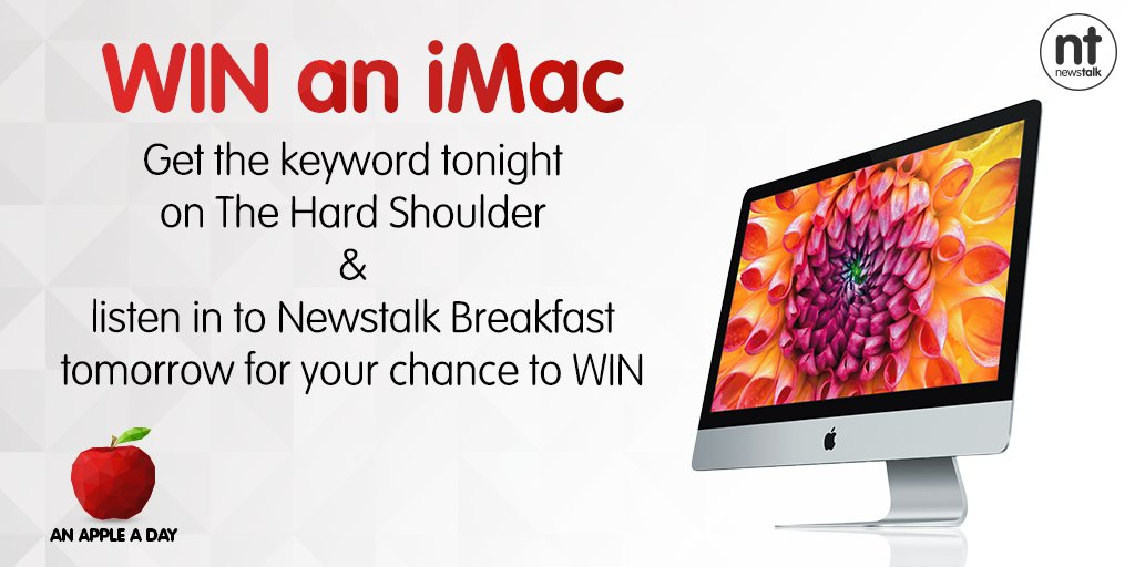 #WIN #AppleADayNT 🍎 📱 📻 Don't miss The Hard Shoulder with @IvanYatesNT this evening!