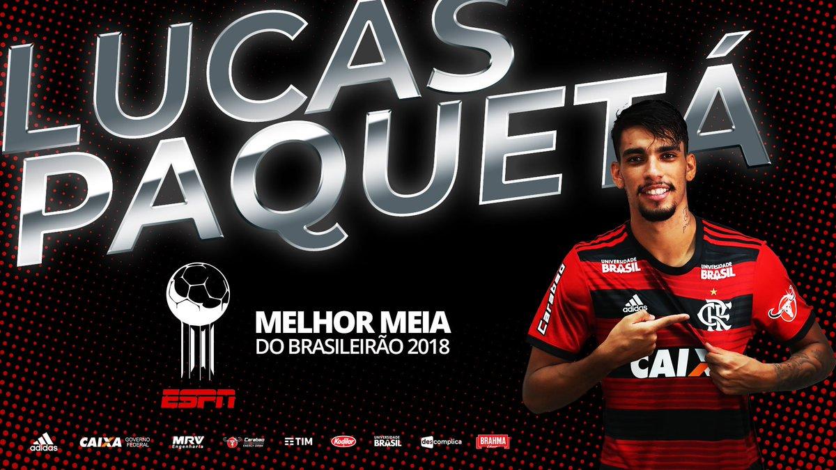 Lucas Paquetá também levou a Bola de Prata do Brasileirão 2018, como melhor meia. #BolaDePrataESPN #CRF