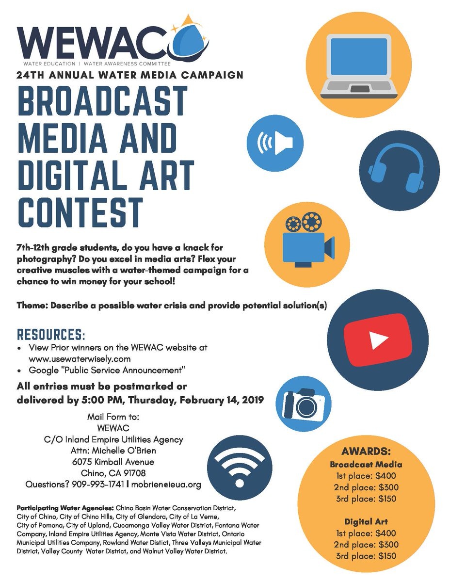 The Deadline To Turn In Either Digital Media Or A Psa Is 2 14 19 1st 3rd Place Awards Each Category Will Be Awarded Up 400