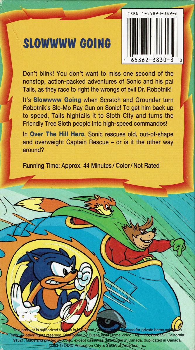Videogameart Tidbits On Twitter The Adventures Of Sonic The Hedgehog Slowwww Going Vhs Box Art