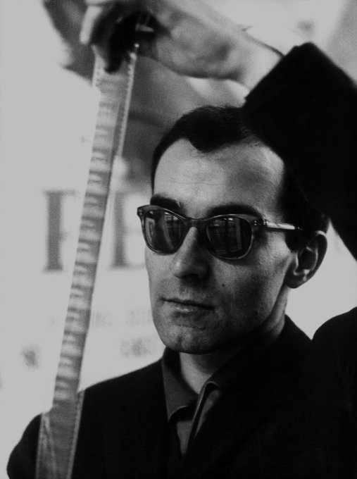 """I know nothing of life except through the cinema.\"" Happy 88th birthday, Jean-Luc Godard!"