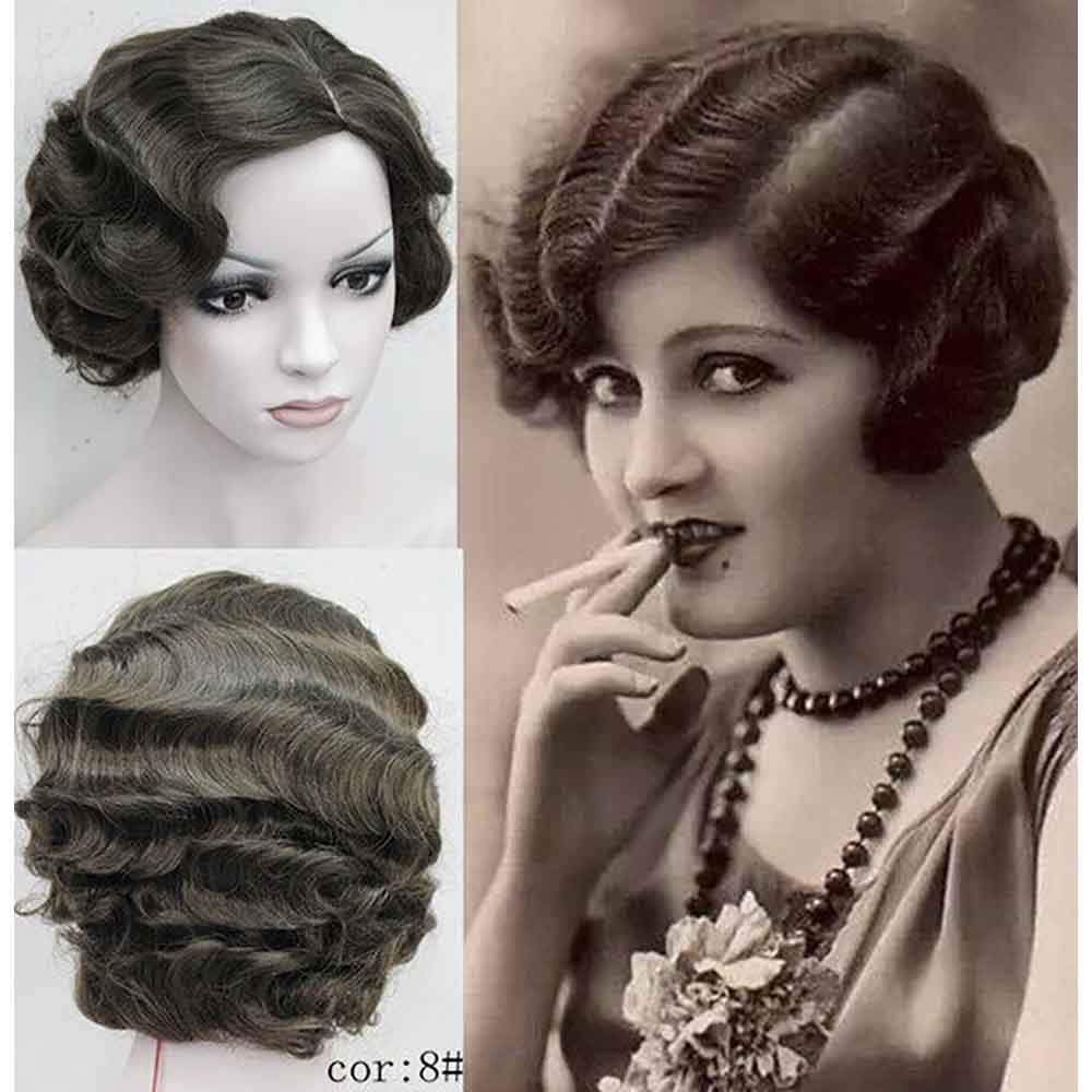 flapper hairstyles for curly hair - 857×887