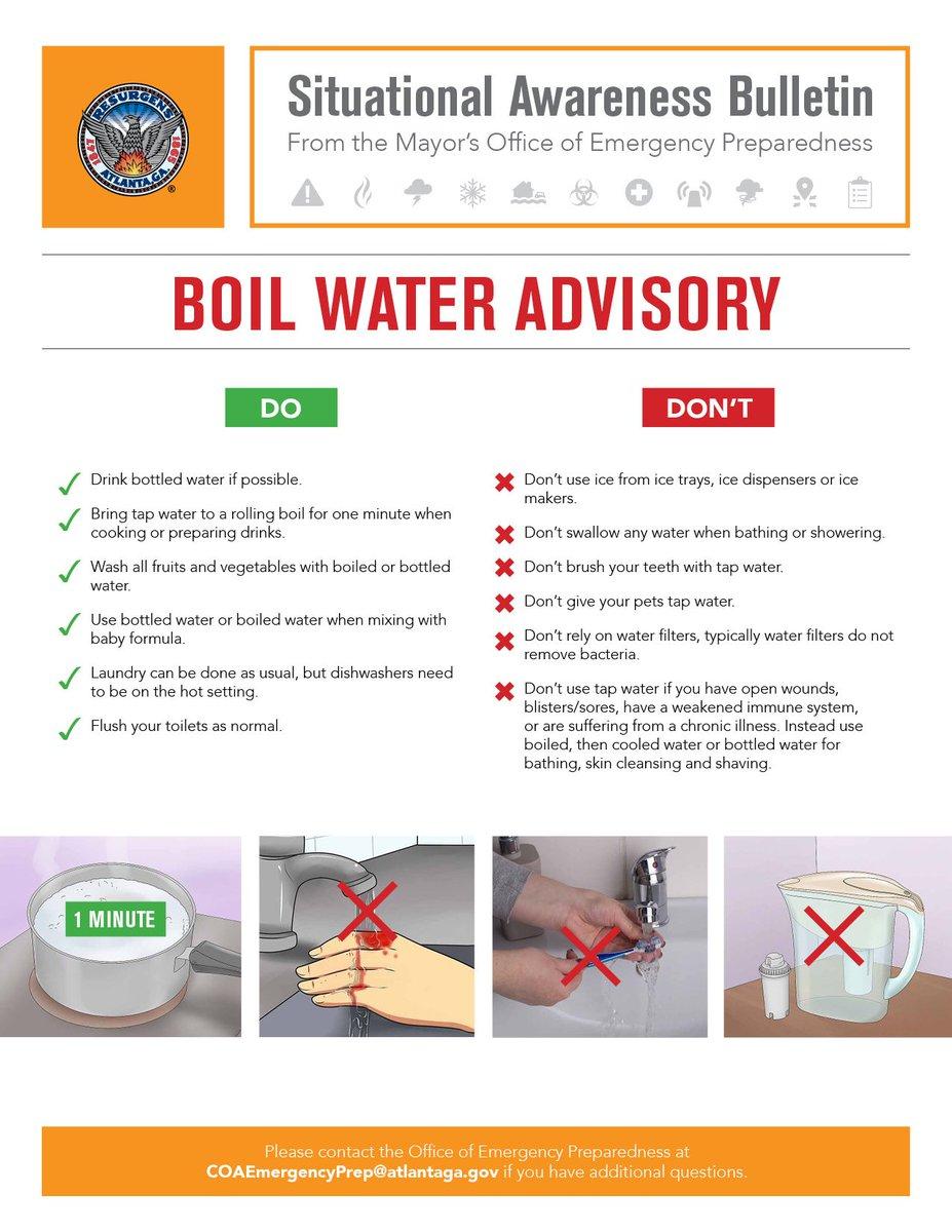 Georgia Em Hs On Twitter Boil Water Advisory Is In Effect In
