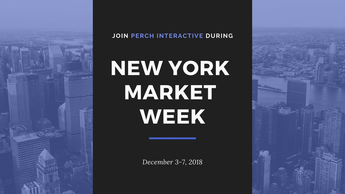 Looking for a week of events that celebrates progress In #retailanddesign?  @perchexperience is elated to be partnering with @designretailmag for #newyorkmarketweek   Join us December 3-7, at 149 West 36th Street, 12th Floor, NY, NY 10018.  Learn more-> https://buff.ly/2KQIX0y