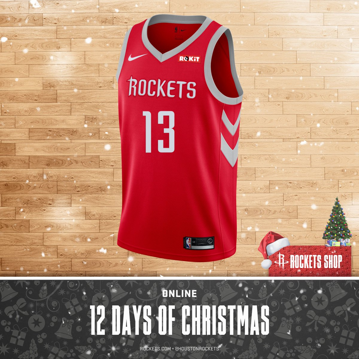 14c4ea69a8e 12 days of christmas get your rockets youth harden icon swingman jersey