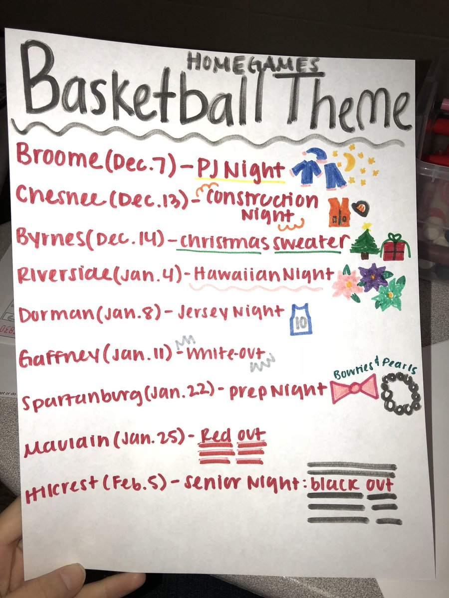 Bshs Student Section On Twitter Who S Ready For Basketball Season Here Are The Themes For All Of The Home Games This Season First Home Basketball Game Is This Friday Against Broome The