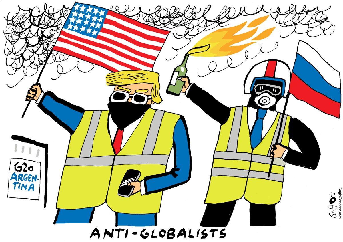 Французские протесты в карикатуре