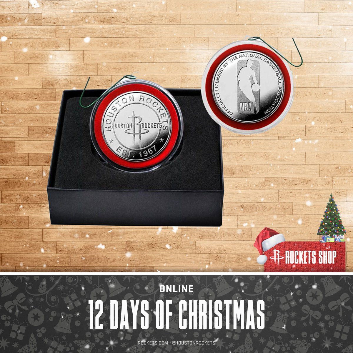 ❄️ 12 Days of Christmas ❄️  Get your #Rockets Silver Plated Coin Ornament: 🛍 » http://bit.ly/RocketsCoin