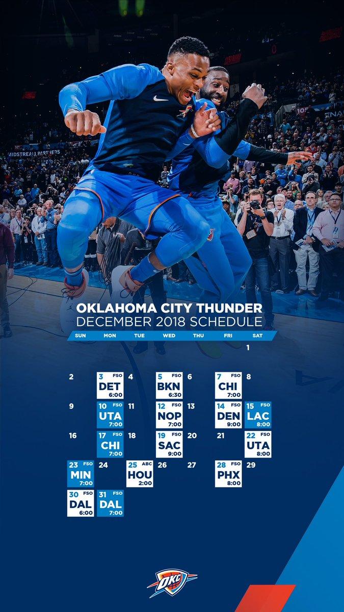 Okc Thunder On Twitter December Wallpapers Open