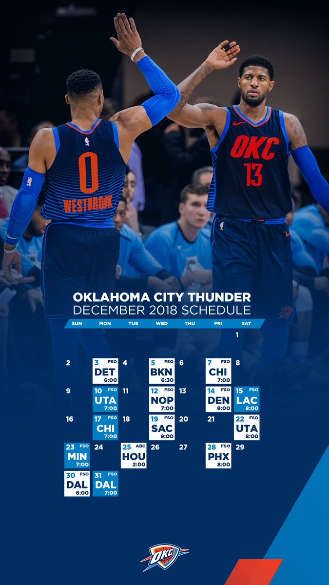 Okc Thunder On Twitter December Wallpapers Open Screenshot