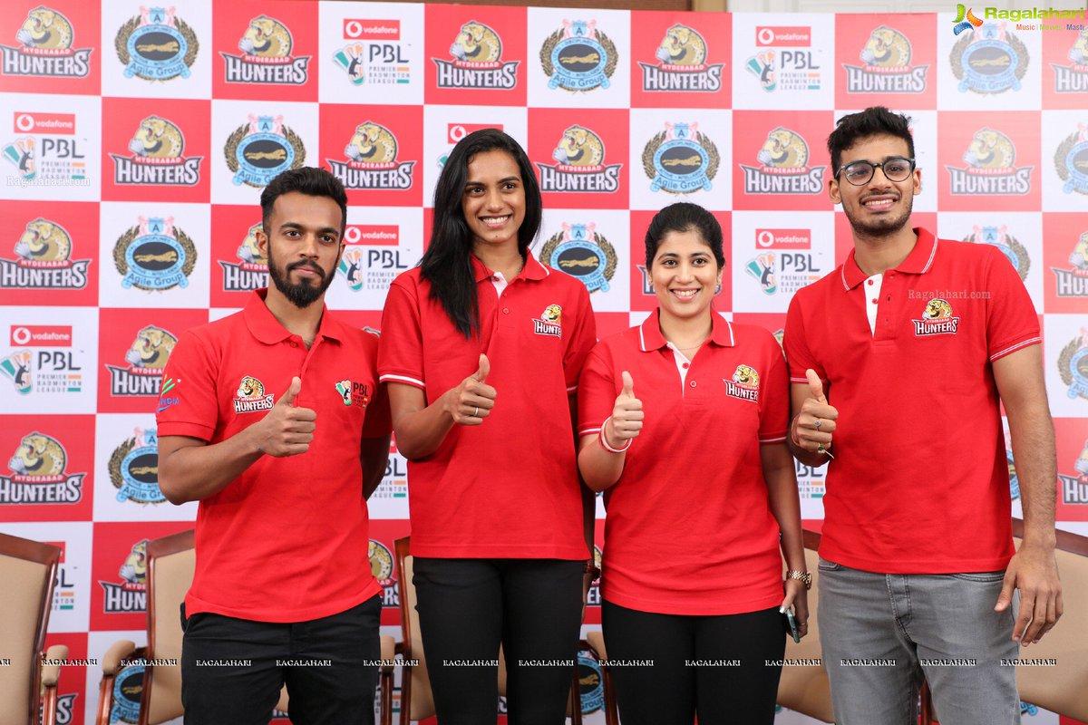 Hyderabad Hunters team for PBL 2018-19 Announcement @Pvsindhu1 @CarolinaMarin Carolina Marin - PV Sindhu face-off to mark PBL opening on Dec 22...rglhri.in/2rih6gB
