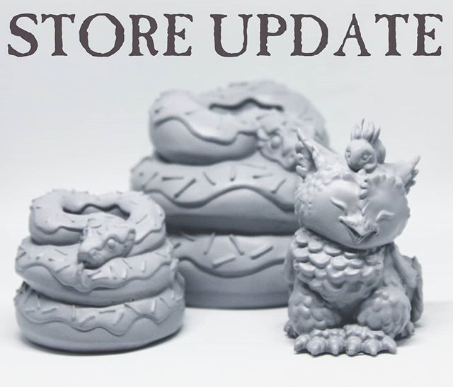Ok, postings are live! If things happen to  sell out don't panic, more will be made :) . . . #doughaconstrictor #artofbiancaromanstumpff #resintoy #arttoy #griffon #jackalope https://ift.tt/2BN32Sq