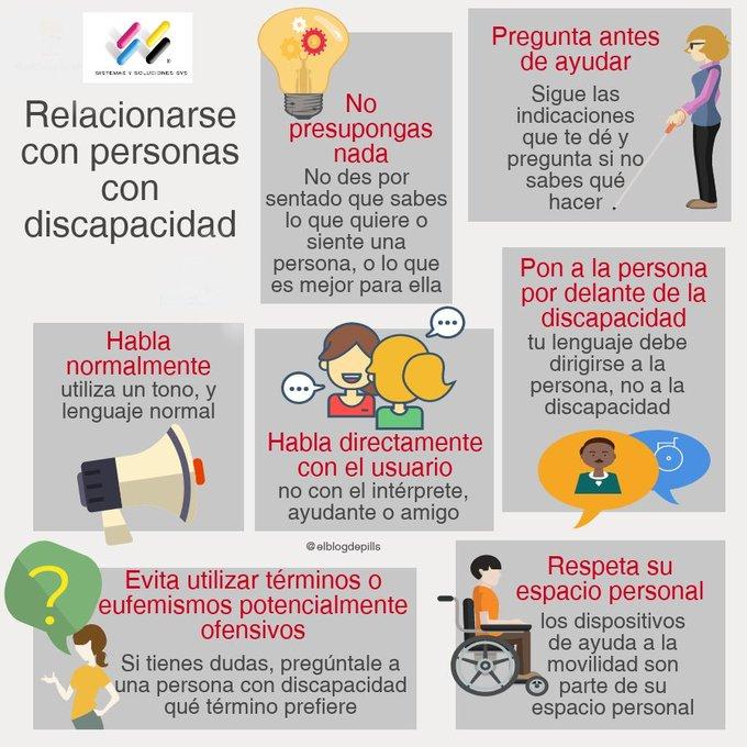 #FelizLunes #DiaInternacionalDiscapacidad. Si no sabes qué hacer, cómo hacerlo, qué terminología utilizar, o cómo ayudarles, pregúntales directamente. 😀 Photo