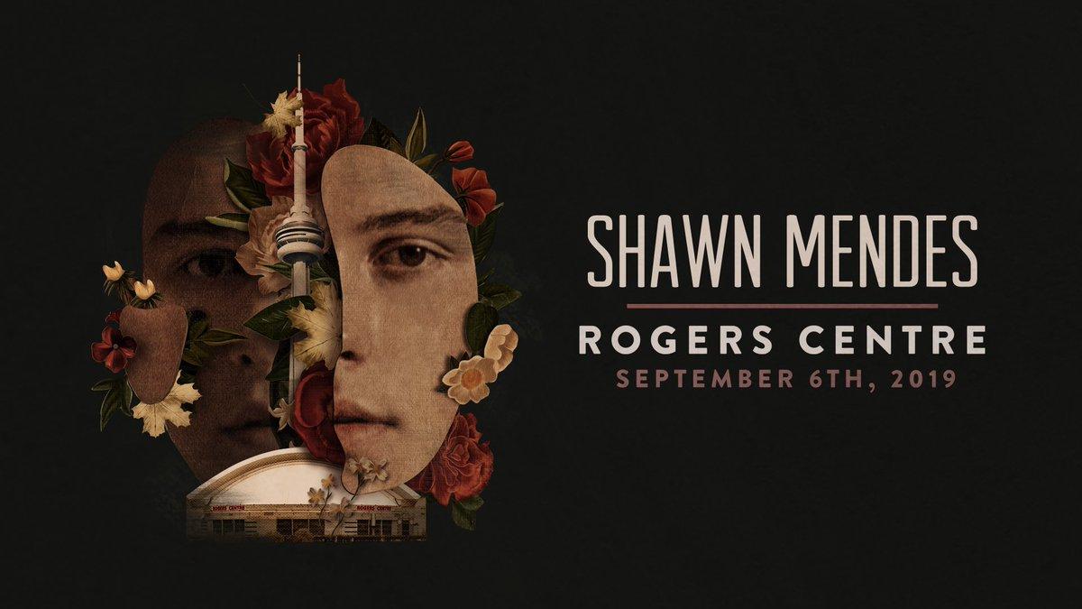 Rogers Centre Stadium, Toronto, ON Sept 6th, 2019. Presales start this week! Ticket & presale info at ShawnStadium.com