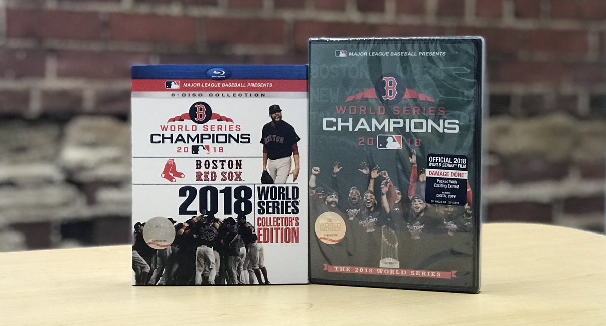 63c70408e62 Who wants the 2018  RedSox World Series Collector s Edition Blu-ray box set  and DVD highlight film  We ve got  em