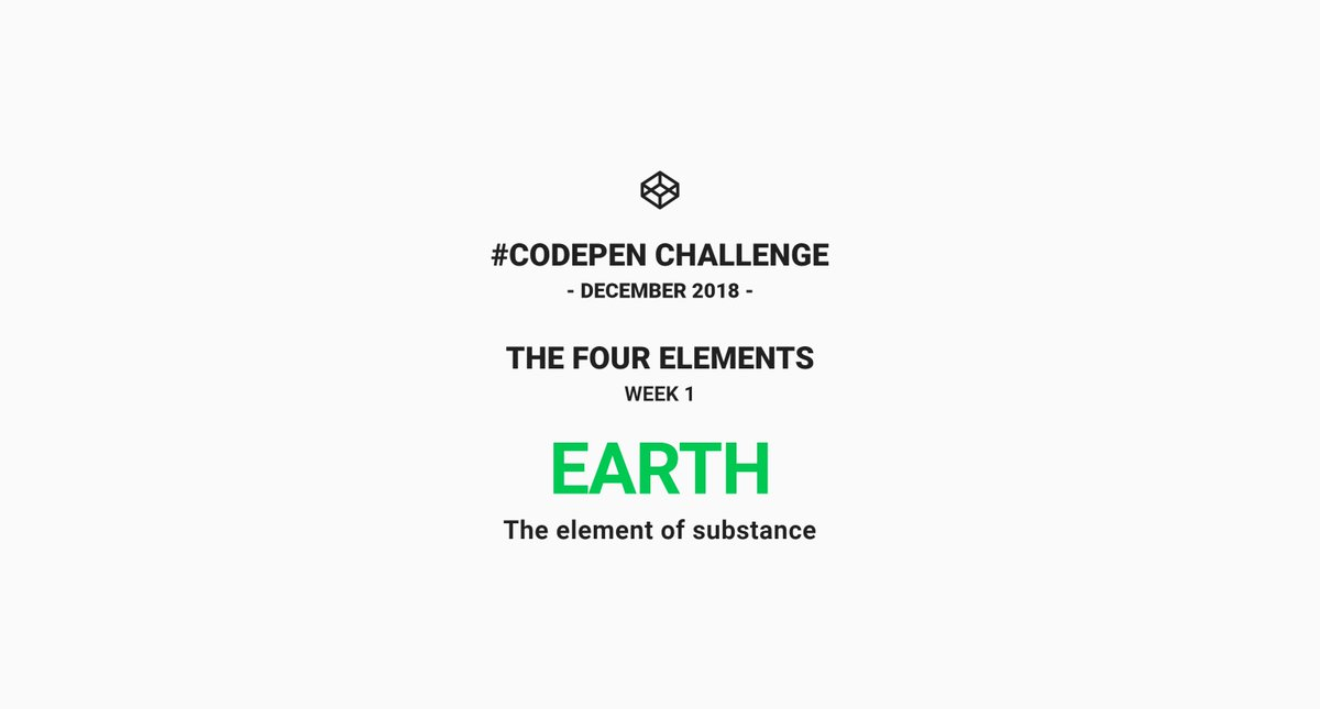 CodePenChallenge: Earth 🌍