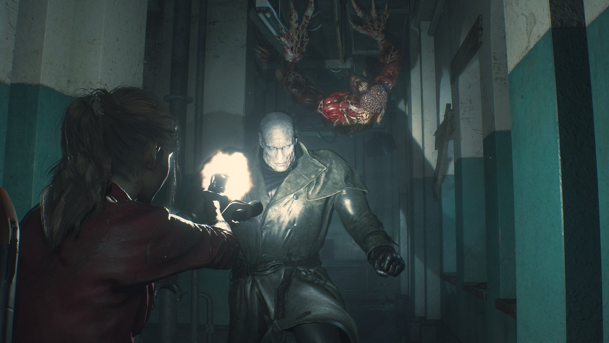 His boots were made for stomping. See what its like to take on the Tyrant in this new gameplay video featuring Claire in Resident Evil 2, and get a sneak peek at Sherry Birkin in the new Orphanage area. #RE2