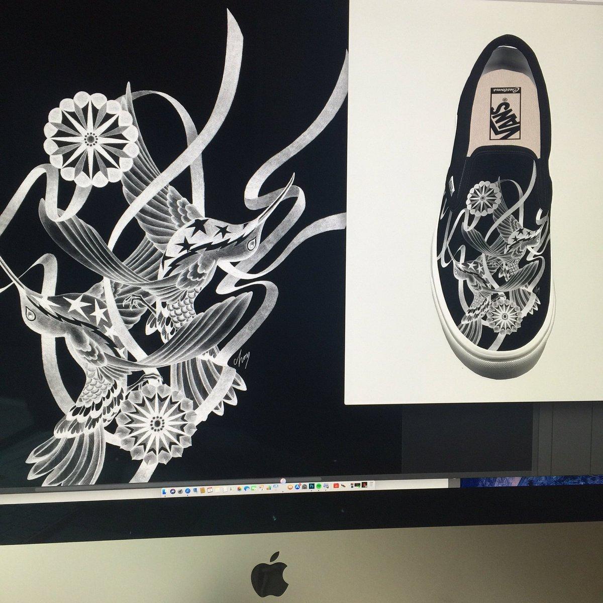 aad24d8277c823  vans  vansjapan  vanscustoms  vansvault  vansslipon  customshoes  art   artwork  design  illustration  sneakers  sneakerhead  sneakerheads   fashion  shoes ...
