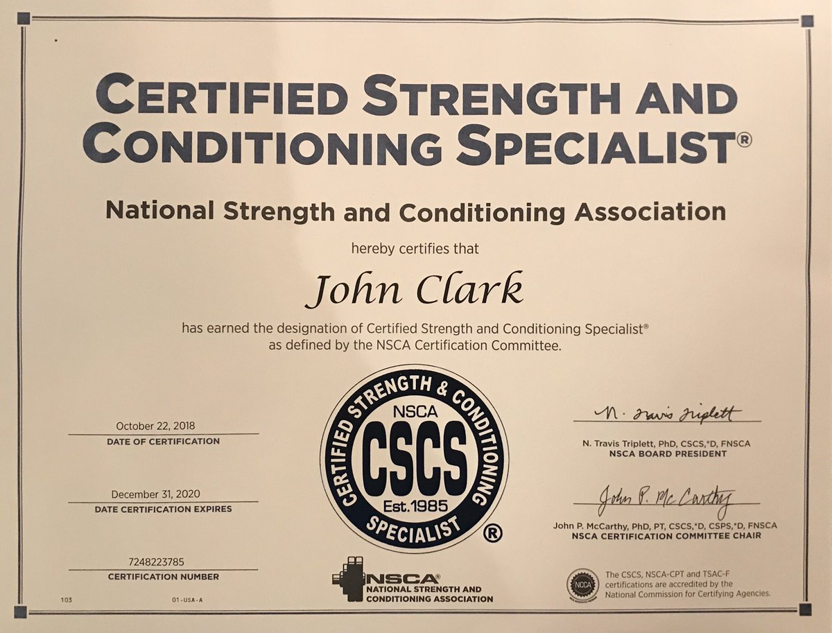 Madison : Nsca certification