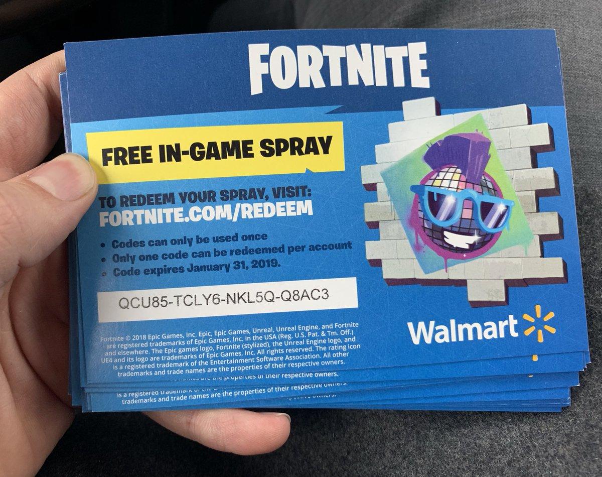 Fortnite Free Walmart Spray Codes | Fortnite Mobile Hack Apk