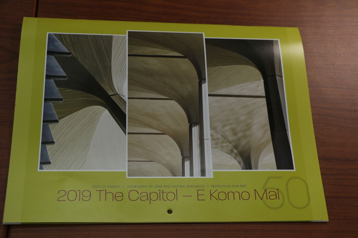 Find out how you can buy our 2019 state historic preservation calendar celebrating the 50th anniversary of the formal opening of the Hawai'i State Capitol. http://dlnr.hawaii.gov/blog/2018/11/30/nr18-226/…