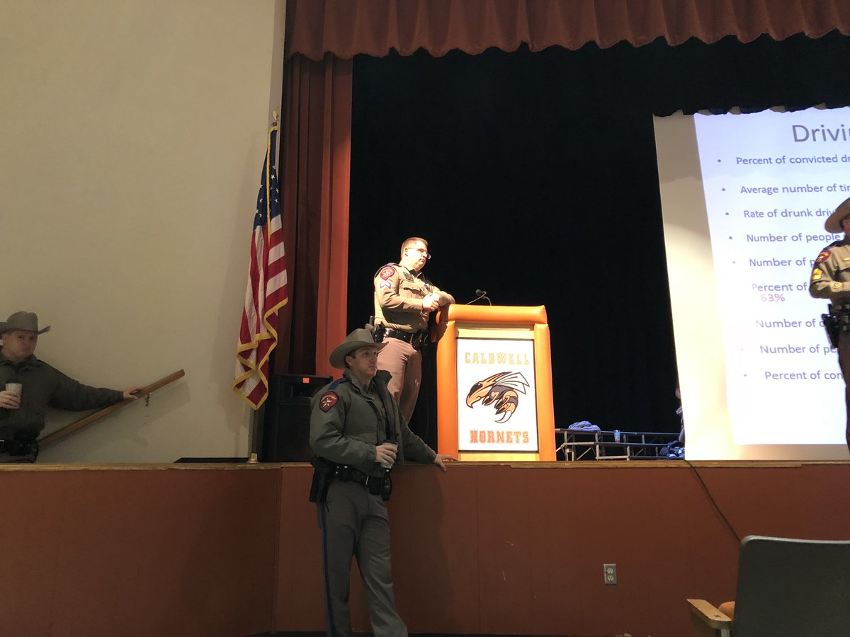 DPS came to our assembly to help us inform CHS students about the dangers of driving. They have seen first hand the tragedies of reckless driving. #BUCKLEUPBUTTERCUP @TeensDriverSeat