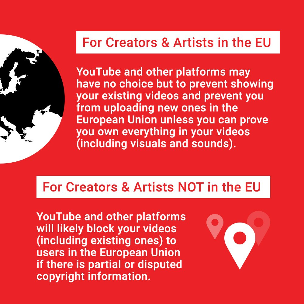 Whether you live in the European Union or not, Article 13 could impact you. #SaveYourInternet