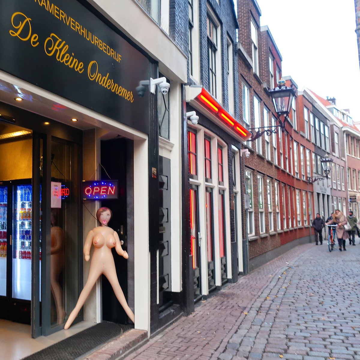 One of the famous street in amsterdam