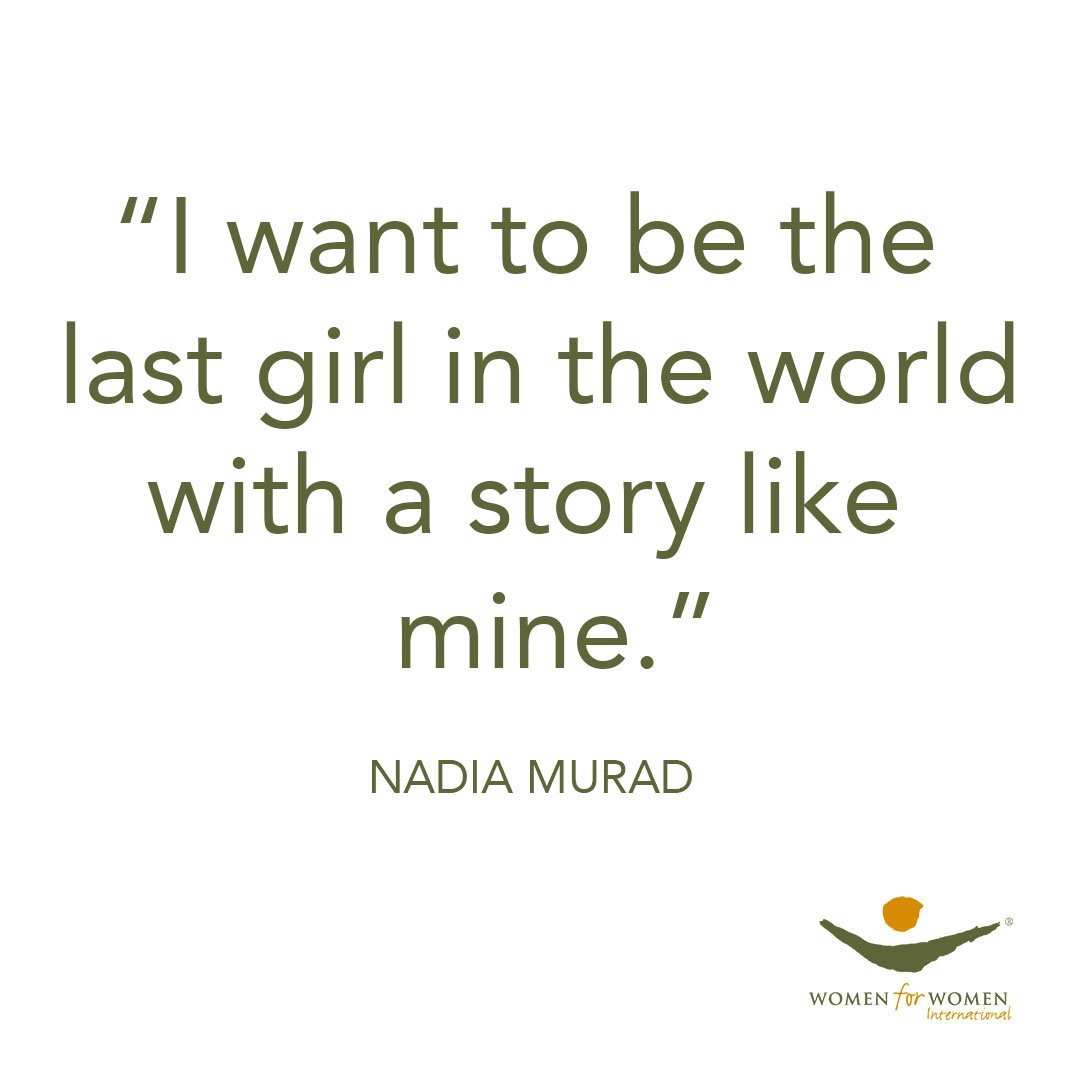 .@nadiamuradbasee has been working tirelessly to bring the world's attention to survivors of sexual violence. Her story as a Yezidi woman is one of incredible strength and is a call to action for all of us! #MondayMotivation #nobelprize #nobel