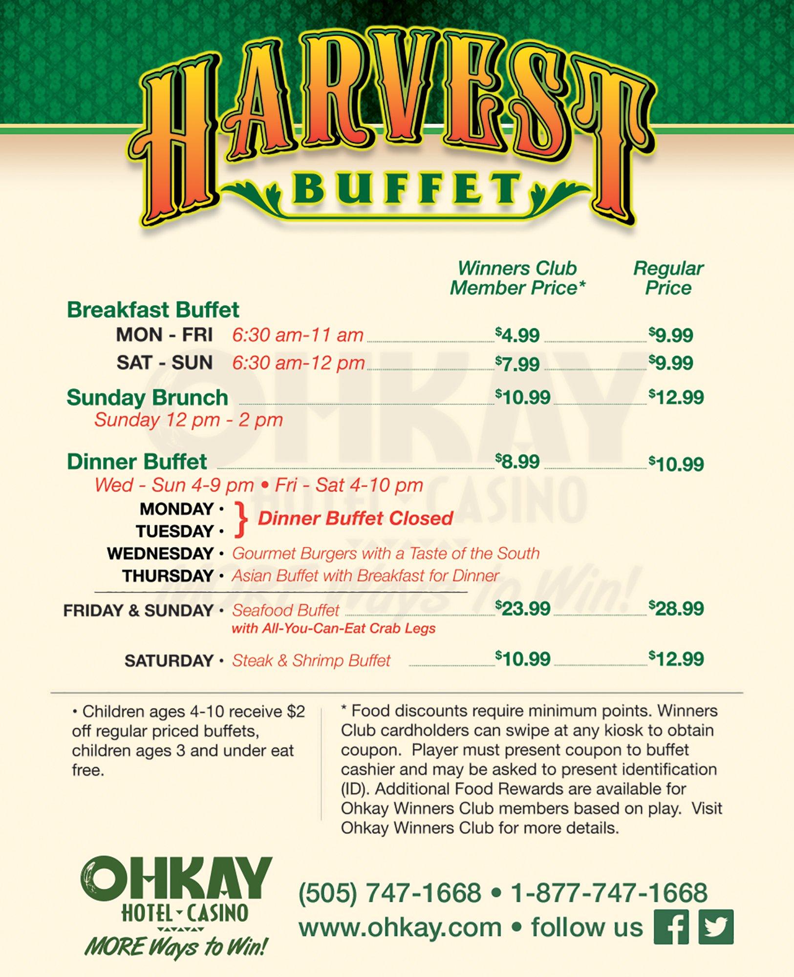 Ohkay Casino Seafood Buffet