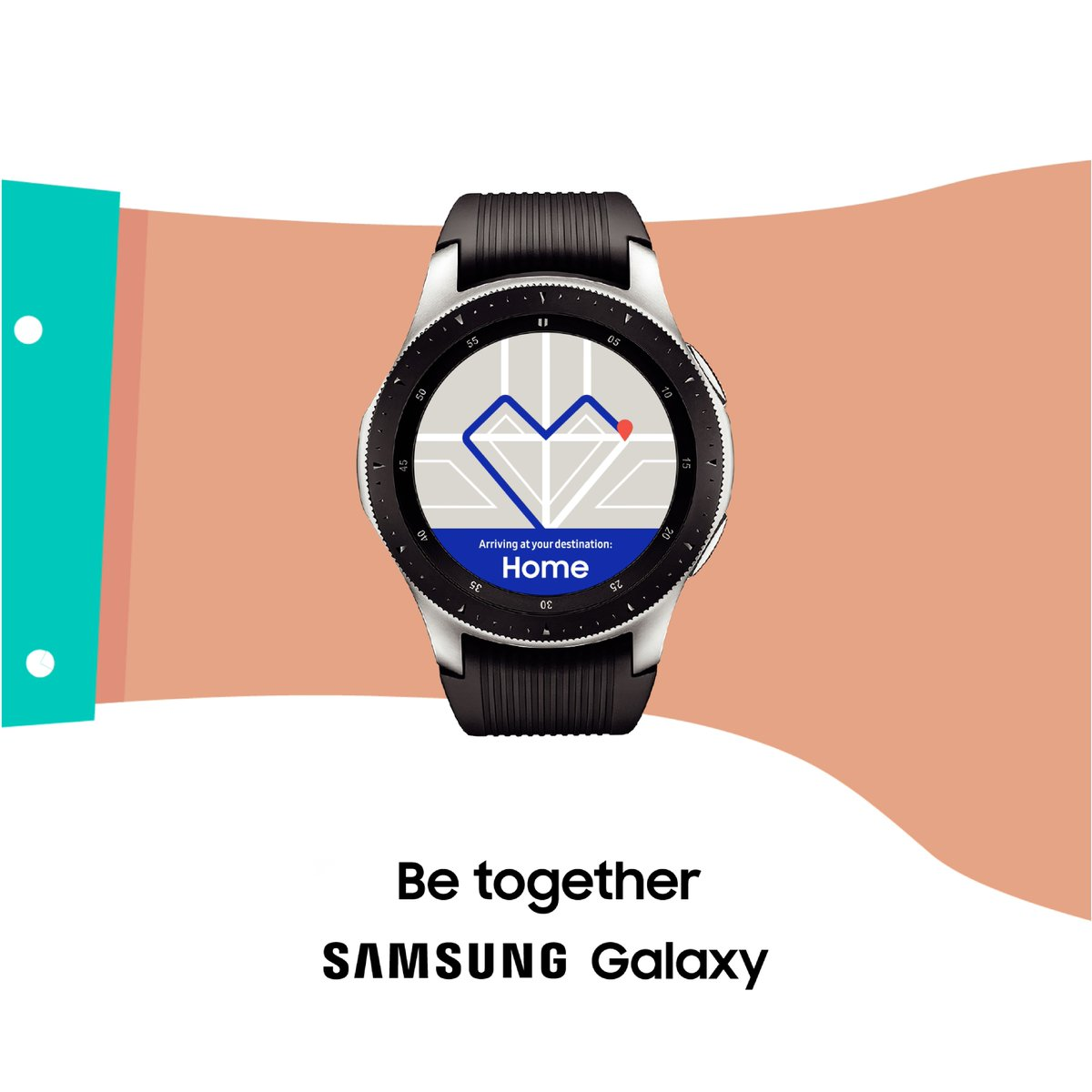 Not just the gift of time. The gift of a lasting connection. Be together with #GalaxyWatch.  Learn more: http://smsng.co/Holiday_kat