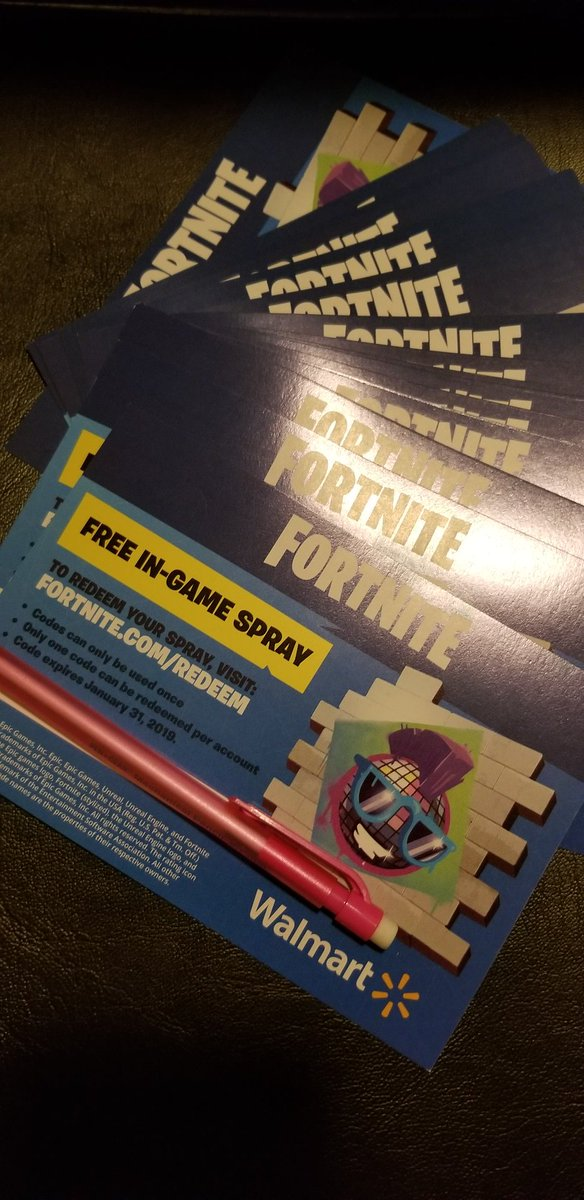 Fortnite Exclusive Walmart Spray Giveaway Youtube Fortnite
