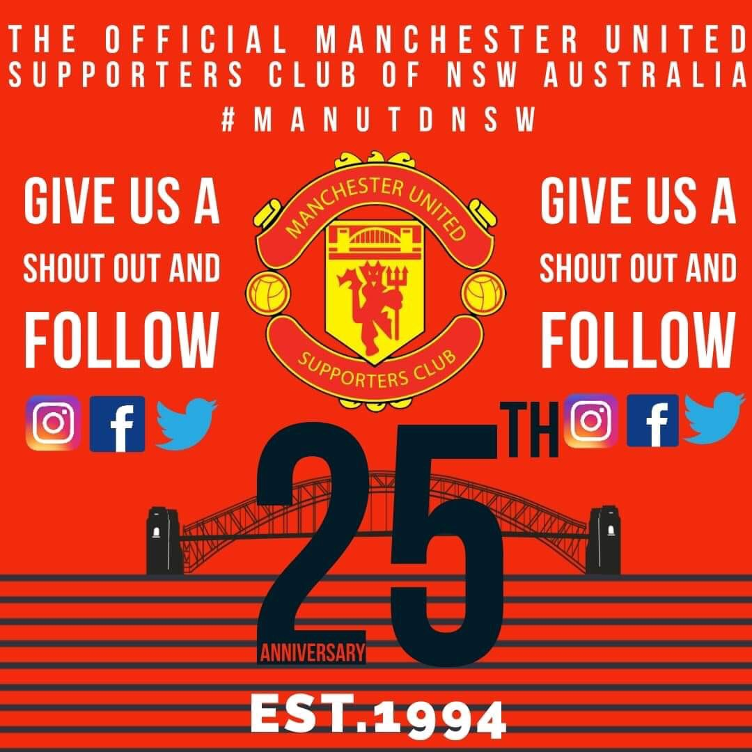 25th season as an official supporters club 🎉  No better way to celebrate than an away trip across the country to see @ManUtd in Perth #ManUtdNSW #MUFCinPerth 🇾🇪 https://t.co/V7S0nLKlBl