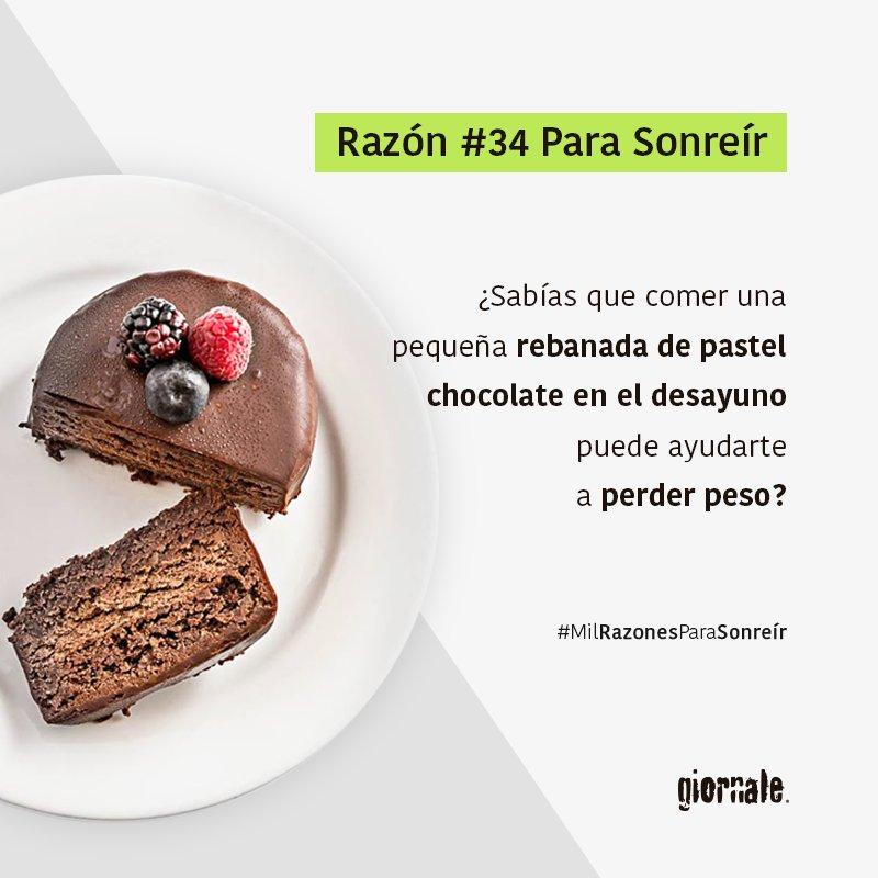 Comer chocolate ayuda a perder peso