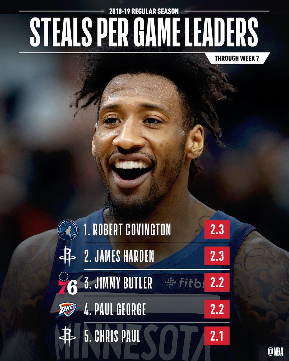 The SPG leaders through Week 7 of the #NBA season!