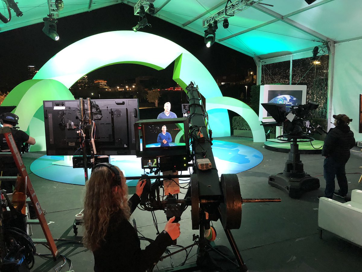 About to be on 24 Hour of Reality Project. Were taking climate change and how we are going to save the world-- for humans like you and me.