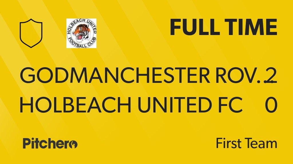 FULL TIME: Godmanchester Rovers 2 - 0 Holbeach United FC #GODHOL #Pitchero http://www.pitchero.com/clubs/holbeachunitedfc/teams/95044/match-centre/0-4217030?utm_campaign=score_update&utm_medium=post&utm_source=twitter&utm_content=FT…